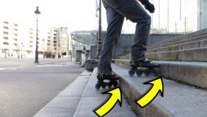 Monter des escaliers en roller avec la contre-marche