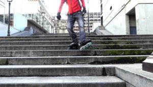 descendre des escaliers en roller
