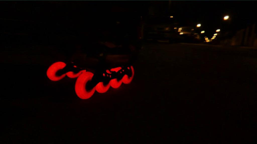roues à leds pour roller rouge Natega